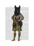 Scottish Terrier in Kilt Premium Giclee Print by  Fab Funky