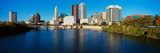 Scioto River and Columbus Ohio Skyline, with Setting Sunlight Photographic Print by Panoramic Images
