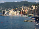 Elevated View of the Camogli from Hotel Cenobio Dei Dogi, Liguria, Italy Photographic Print by Green Light Collection
