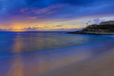 After Sunset at Papohaku Beach, West End, Molokai, Hawaii Fotografisk trykk av Richard Cooke III