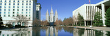 Historic Temple and Square in Salt Lake City, Ut Home of Mormon Tabernacle Choir Photographic Print by Panoramic Images