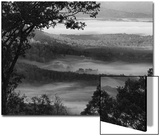 Morning Fog Swirls in the Valley Below on an Autumn Morning in This Black and White View Art by Amy White Al Petteway