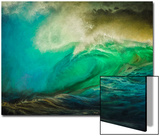 Painted Wave Photo at Papohaku Beach, West End, Molokai, Hawaii Posters by Richard A Cooke III