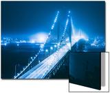 Blue City Bridge, Bay Bridge, San Francisco, California Poster by Vincent James