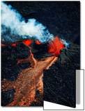Volcano Eruption at the Holuhraun Fissure Near Bardarbunga Volcano, Iceland Art by Panoramic Images