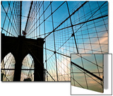 A View of the Brooklyn Bridge Through Cables Posters by Kike Calvo