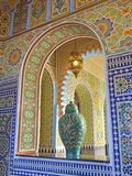 Interior Details of Continental Hotel, Tangier, Morocco, North Africa, Africa Metal Print by Neil Farrin