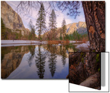 Reflections Inside The Valley Late Winter, Yosemite National Park Prints by Vincent James