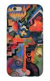 Colored Composition (Hommage à Sebastin Johann Bach) iPhone 6s Case by Auguste Macke