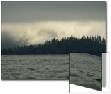 Low Clouds over a Forested Rocky Shore on Sgang Gwaay, or Anthony Island Art by Jonathan Kingston