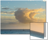 A Sailboats Sail under a Cloud That Has Taken the Shape of a Sail Prints by Jonathan Kingston