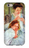 Young Mother Sewing iPhone 6 Case by Mary Cassatt
