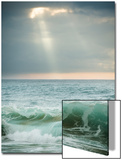 God-Rays Break Through the Clouds over the Pacific on the West Shore of Molokai, Hawaii Posters by Jonathan Kingston