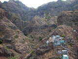 The Remote Village of Fontainhas Sits Precariously on a Mountainside on Santo Antao Island Prints by Jody Macdonald