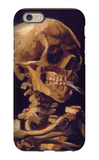 Skull with a Burning Cigarette iPhone 6 Case by Vincent van Gogh