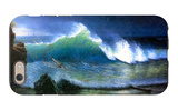 The Coast of the Turquoise Sea iPhone 6 Case by Albert Bierstadt