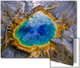Aerial View of the Colorful Grand Prismatic Spring Print by Tom Murphy