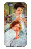 Young Mother Sewing iPhone 6 Plus Case by Mary Cassatt