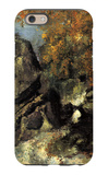 Rock in the Forest of Fontainbleau iPhone 6 Case by Paul Cézanne