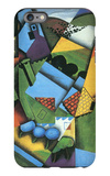 Landscape with Houses in Céret iPhone 6 Plus Case by Juan Gris