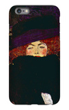 Lady with Hat and Feather iPhone 6s Plus Case by Gustav Klimt