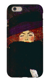 Lady with Hat and Feather iPhone 6 Case by Gustav Klimt