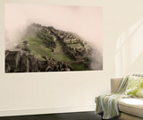 Clouds Drift over the Pre-Columbian Inca Ruins of Machu Picchu Wall Mural by Jim Richardson