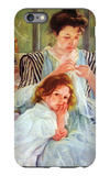 Young Mother Sewing iPhone 6s Plus Case by Mary Cassatt