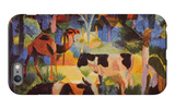 Landscape with Cows and Camels iPhone 6s Plus Case by Auguste Macke