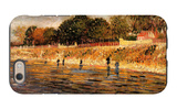The Banks of the Seine iPhone 6 Case by Vincent van Gogh