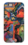 Colored Composition (Hommage à Sebastin Johann Bach) iPhone 6 Case by Auguste Macke