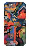 Colored Composition (Hommage à Sebastin Johann Bach) iPhone 6s Plus Case by Auguste Macke