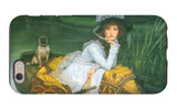 A Young Woman in a Boat iPhone 6 Case by James Tissot