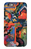 Colored Composition (Hommage à Sebastin Johann Bach) iPhone 6 Plus Case by Auguste Macke
