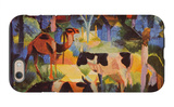 Landscape with Cows and Camels iPhone 6 Case by Auguste Macke