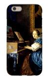 Dame on Spinet iPhone 6 Case by Jan Vermeer