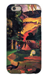 Landscape with Peacocks iPhone 6 Case by Paul Gauguin
