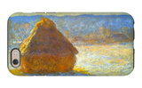 Haystack, Morning Snow Effect iPhone 6 Case by Claude Monet