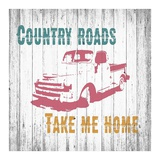 Country Roads Poster by Alicia Soave