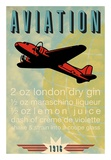 Aviation Recipe Poster by  Fig & Melon Press