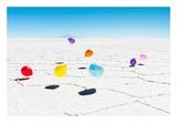 Balloons Three, Salar de Uyuni, Bolivia Kunst av Richard Silver