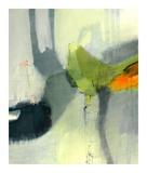 Green Bird Prints by Sidsel Brix