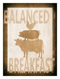 Balanced Breakfast Two Posters by Alicia Soave