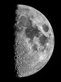 The Moon Seen Through a Telescope with the Lunar Terminator, or Day-Night Line Metal Print by Babak Tafreshi