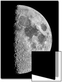 The Moon Seen Through a Telescope with the Lunar Terminator, or Day-Night Line Poster van Babak Tafreshi