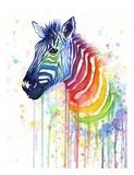 Rainbow Zebra Prints by Olga Shvartsur