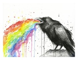 Raven Tastes the Rainbow Prints by Olga Shvartsur