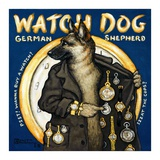 Watch Dog Prints by Janet Kruskamp