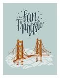 San Francisco Travel Posters by Emily Rasmussen