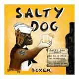 Salty Dog Poster by Janet Kruskamp